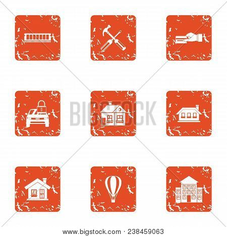 Payment Resource Icons Set. Grunge Set Of 9 Payment Resource Vector Icons For Web Isolated On White