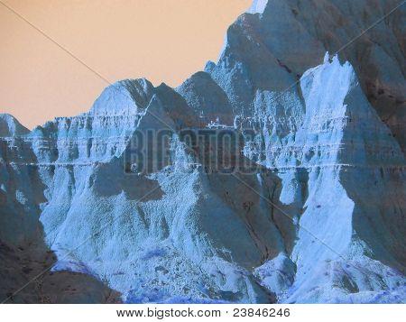 Moods of Nature: Badlands in Blue