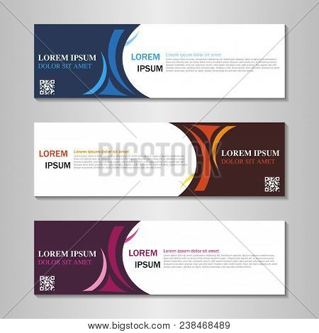 Vector Abstract Design Web Banner Template. Web Design Elements - Header Design. Abstract Geometric