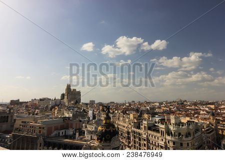Panoramic Views Of Madrid Streets From Above