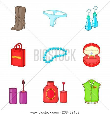 Commercial Activity Icons Set. Cartoon Set Of 9 Commercial Activity Vector Icons For Web Isolated On