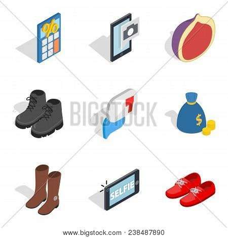 Buy Out Icons Set. Isometric Set Of 9 Buy Out Vector Icons For Web Isolated On White Background