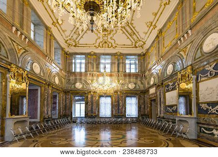 Saint Petersburg, Russia - March 19, 2018: Interior Of Marble Palace. Marble Palace Is One Of The Fi