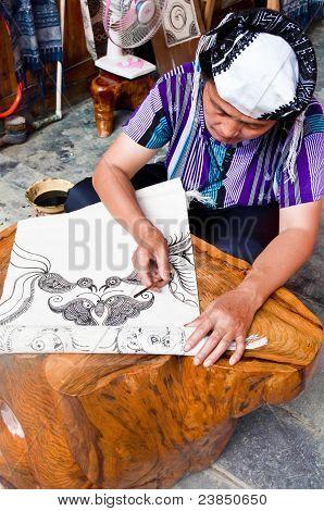 Making A Batik Tapestry