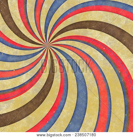 A Funky Retro Hipster Swirl Background Pattern.
