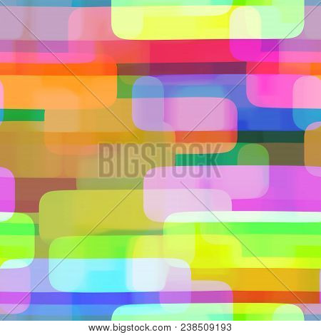 A Vibrant Watercolor Ink Seamless Rectangle Pattern.