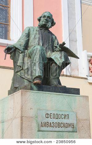 Great Russian Artist Ivan Ayvazovski, Statue In  In Feodosia, Crimea, Ukraine