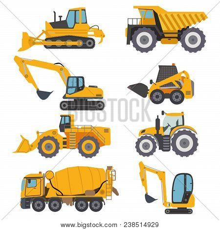 Construction Machinery Vehicle Industry Truck Equipment Heavy Machine Concrete Mixer, Loader And Cra