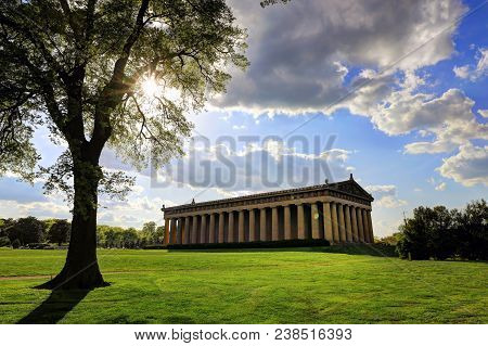 The Parthenon in Nashville, Tennessee is a full scale replica of the original Parthenon in Greece. The Parthenon is located in Centennial Park. poster