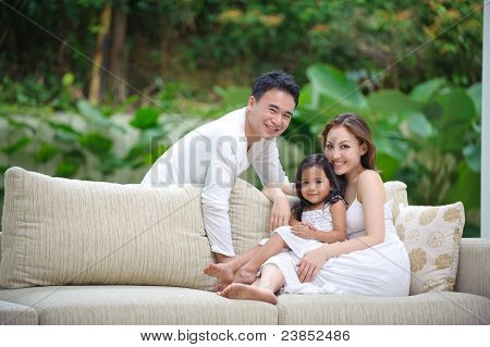 Asian Family Happy Together