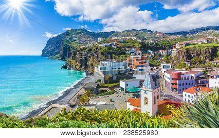 Cityscape Panorama Of Camara De Lobos, Madeira Island, Portugal