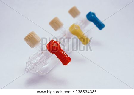 Converting Devices Part Of The System For Intravenous Infusions