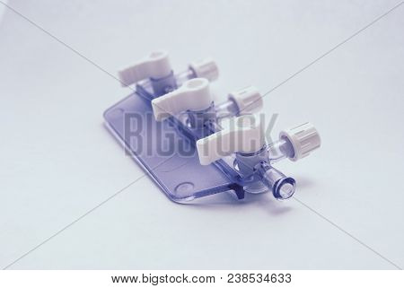 Medical Converting Device. Reducer Part On A White Background. P