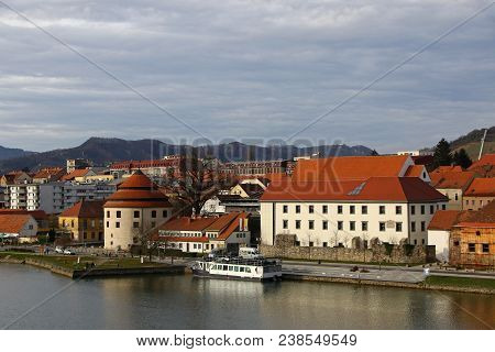Judgement Tower (slovenian: Sodni Stolp), The Fortified Medieval Tower In Maribor Old Town, Slovenia