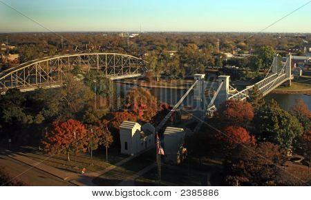 Foot Bridge And Metal Bridge.