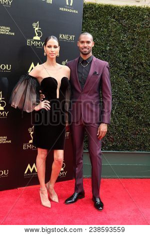 LOS ANGELES - APR 29:  Mercedes Cornett, Lamon Archey at the 45th Daytime Emmy Awards at the Pasadena Civic Auditorium on April 29, 2018 in Pasadena, CA