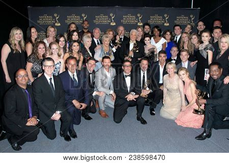 LOS ANGELES - APR 29:  Days of Our Lives Cast - Best Daytime Drama Winner at the 45th Daytime Emmy Awards at the Pasadena Civic Auditorium on April 29, 2018 in Pasadena, CA