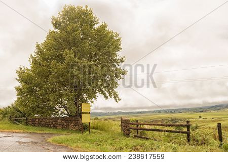 Maloti Drakensberg Park, South Africa - March 18, 2018: The Entrance To The Horse Stables At Rugged