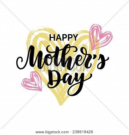 Vector Illustration, Happy Mothers Day Card
