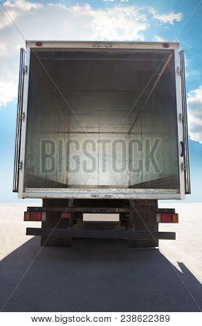 Open Metal Empty Container Of Truck Empty