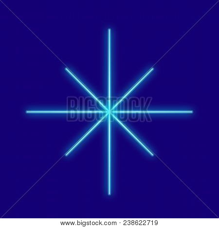 Weather. Snow, Snowflake. Icons With Neon Glow Effect. Neon Light. Vector Image. Design Element Inte