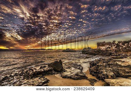 Beautiful Sunset Coastline Of Perth Western Australia