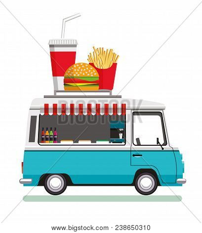 Street Fast Food Automobile. Fast Food Truck City Car. Fast-food Car. Street Food Truck. Street Food
