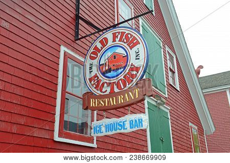 Saint John, Nb, Canada - May 22, 2016: Historic Building In Town Center Of Lunenburg, Nova Scotia, C