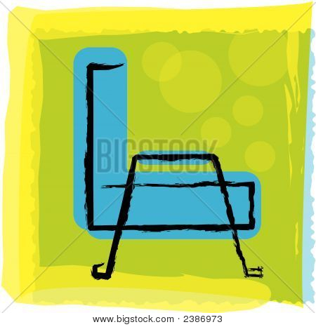 Blue Chair.Eps