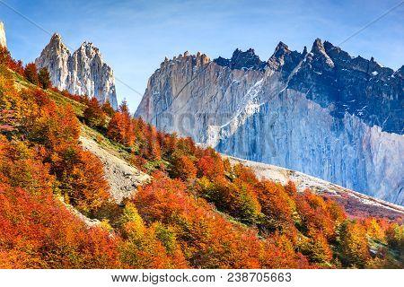 Patagonia, Chile - Torres Del Paine (2850 M) In Cordillera Paine, Magelanes Regioon, South America.