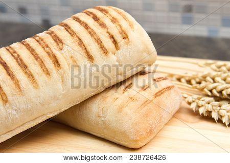 Panini Traditional Italian Style Panini Bread With Ears Of Wheat