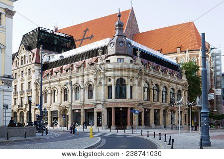Wroclaw, Poland - September 05, 2010: The Monopol Hotel In Wroclaw, Poland. The Monopol Hotel Is A F