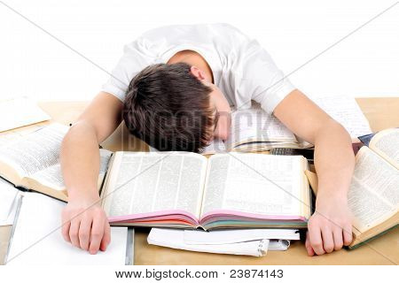 Tired Student