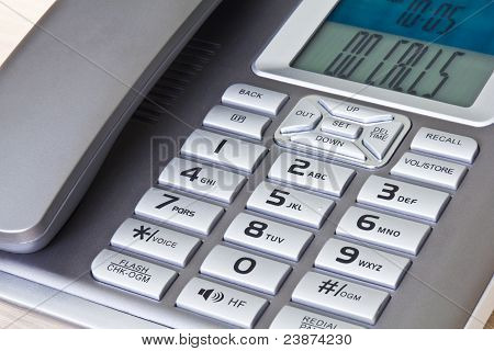 Close Up Of Office Telephone