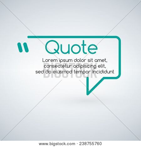 Innovative Vector Quotation Template In Quotes. Creative Vector Banner Illustration With A Quote In