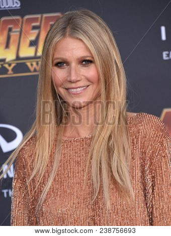 LOS ANGELES - APR 23:  Gwyneth Paltrow arrives to the Marvel Studios 'Avengers: Infinity War' World Premiere  on April 23, 2018 in Hollywood, CA