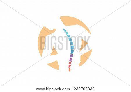 Chiropractic Body Pain Exercice Vector spine diagnostics symbol design Logo Illustration poster