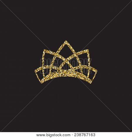 Queen Crown, Royal Gold Headdress. King Golden Accessory. Isolated Vector Illustrations. Elite Class