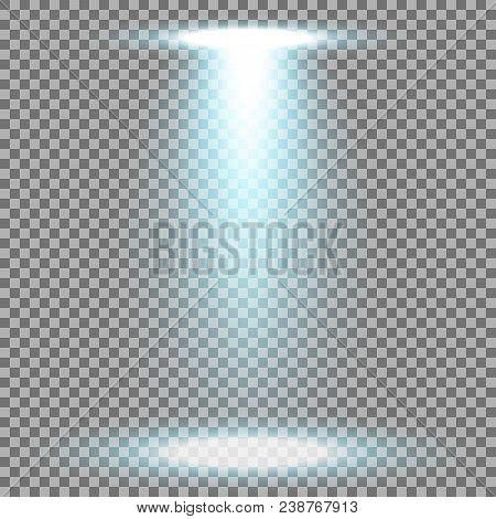 Spotlight Glow Effect, Light Beam On Transparent Background, Show Spotlight Vector, Light Effect, Aq
