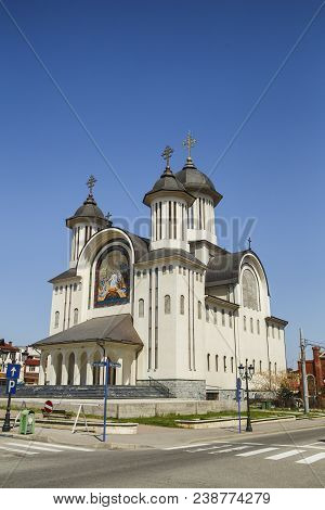 Drobeta Turnu-severin, Romania-april 04: Orthodox Cathedral On April 04, 2018 In Drobeta Turnu-sever