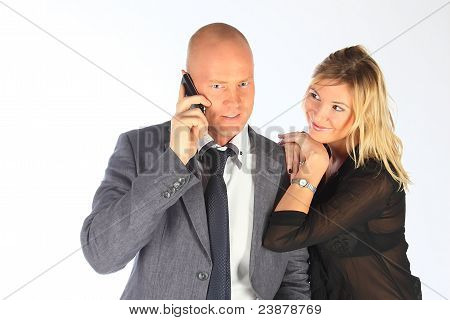 The businessman with the wife