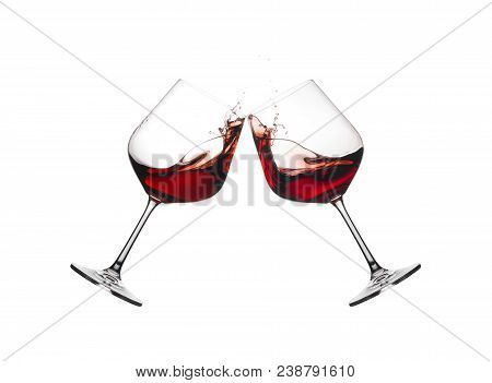 Wine Glasses In Toast.