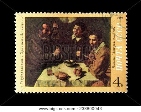 Soviet Union - Circa 1972 : Cancelled Postage Stamp Printed By Soviet Union,that Shows Painting By V