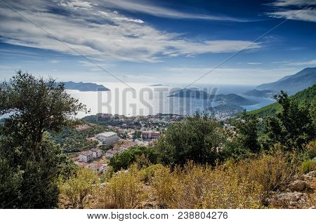 Kas, Provinces Of Antalya, Turkey - September 28, 2015:city And Port Of Kash On The Mediterranean Co