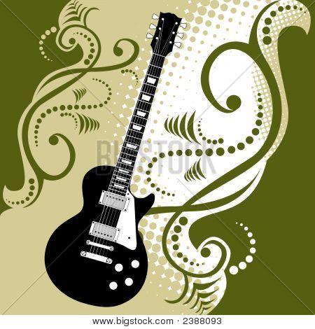 Guitar Floral