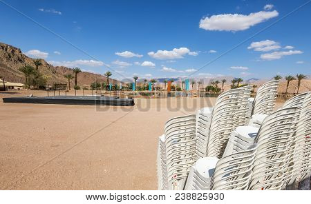 Square For Resting And Entertainment At A Shore Of Artificial Freshwater Lake That Is The Heart Of R