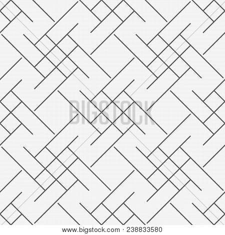Vector Modern Seamless Geometry Pattern Trippy, Black And White Abstract Geometric Line Background,