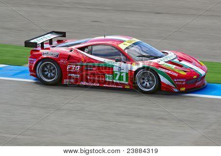 ESTORIL - SEPTEMBER 25: Ferrari 458 of the Italian team AF Corse piloted by Toni Vilander in the LMS race