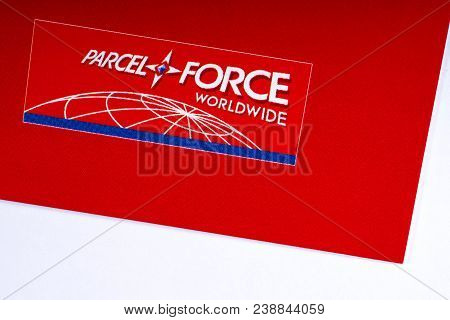 London, Uk - March 27th 2018: A Close-up Of The Parcelforce Worldwide Company Logo, On 27th March 20