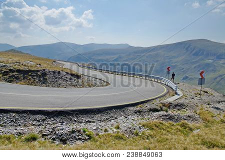 Mountain Road Transalpina In The Paring Mts., Romania